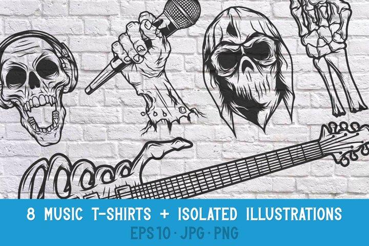 8 Music t-shirts