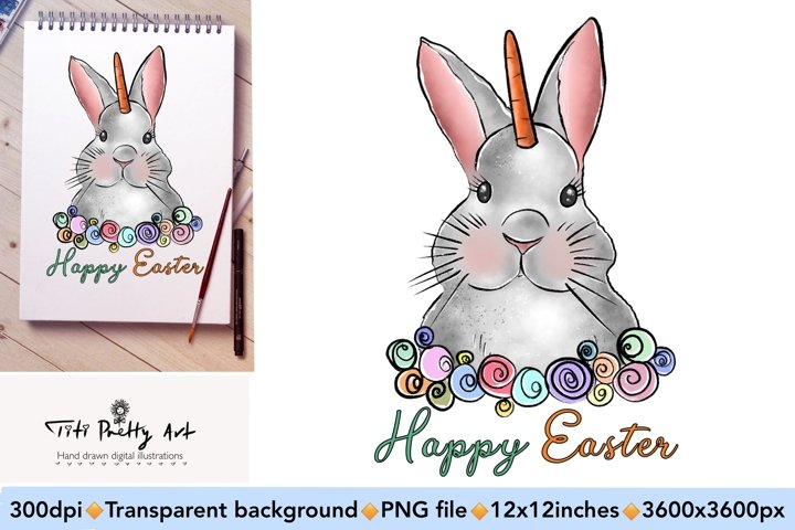 Easter Bunny PNG, Easter Is Here Bundle