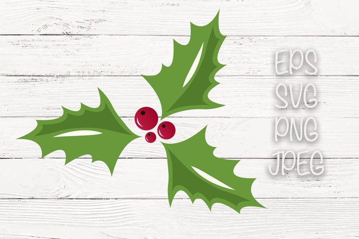 Holly Berry, Christmas SVG File