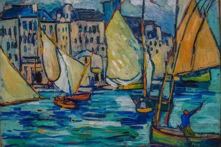 Sailboats Oil on canvas
