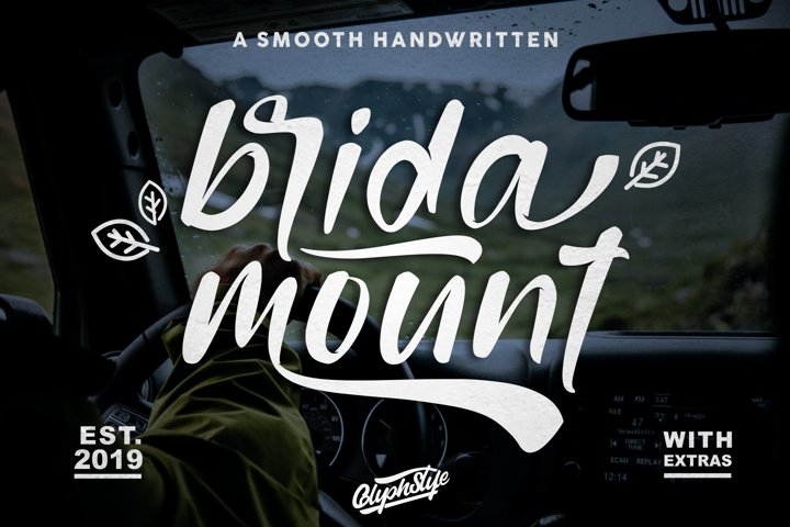 bridamount - a Smooth Handwritten font with extras
