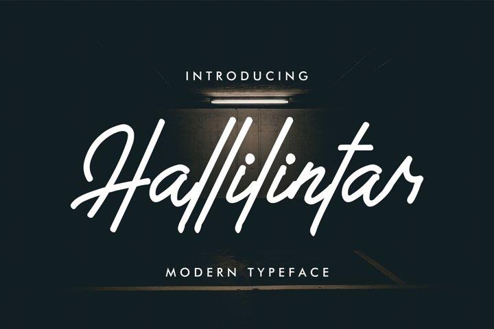 Hallilintar   Modern Font