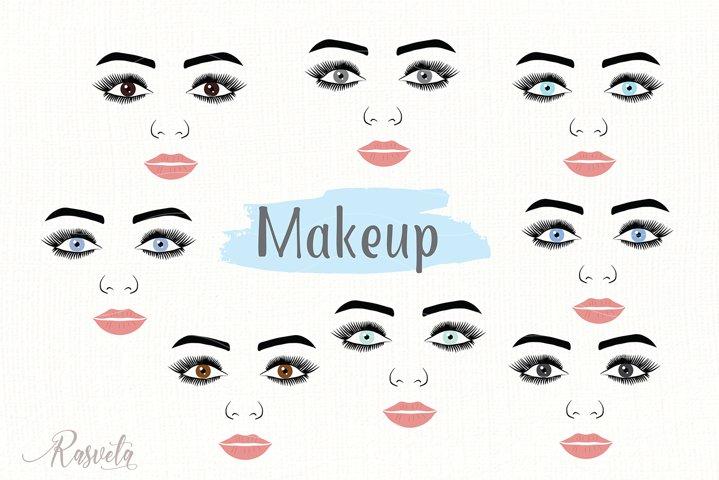 Make up svg Female Face Makeup Eyelashes Eyes Lips /2