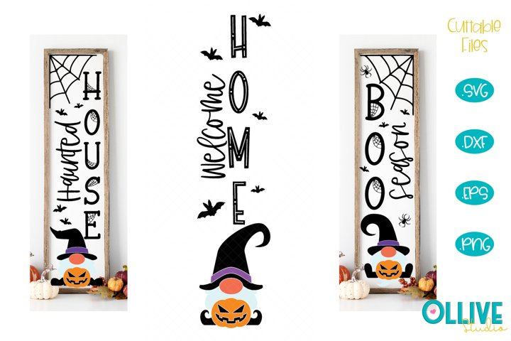 Gnome Halloween Porch Sing SVG Bundle