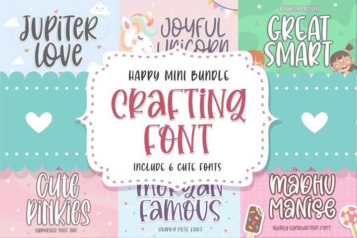 Crafting Font Mini Bundle