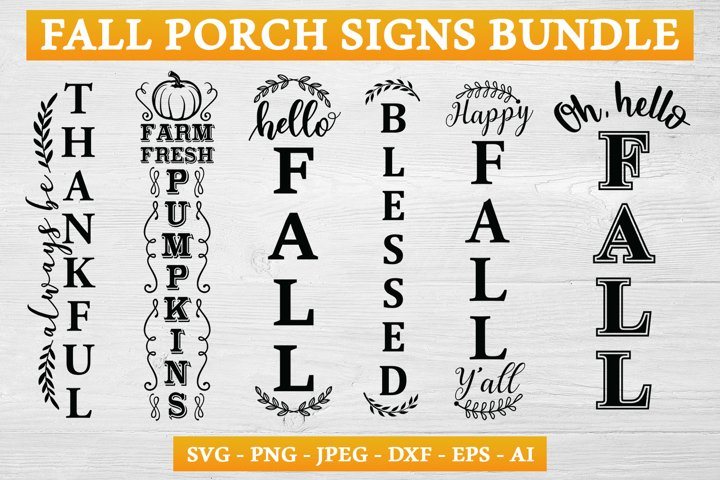 Fall Porch Sign SVG Bundle