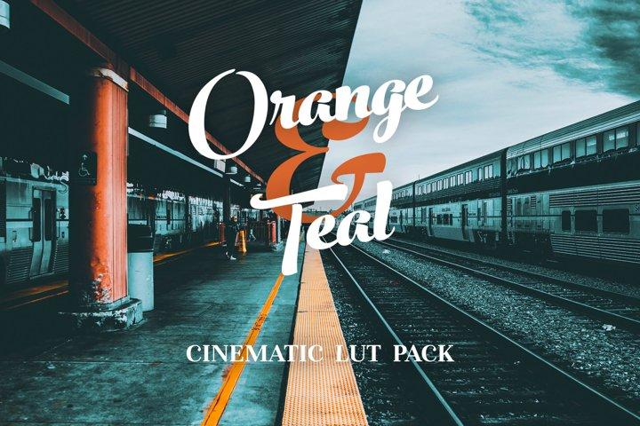Orange & Teal LUTS Pack for videos