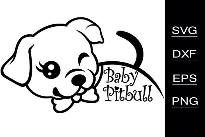 Baby Pitbull SVG cutting files