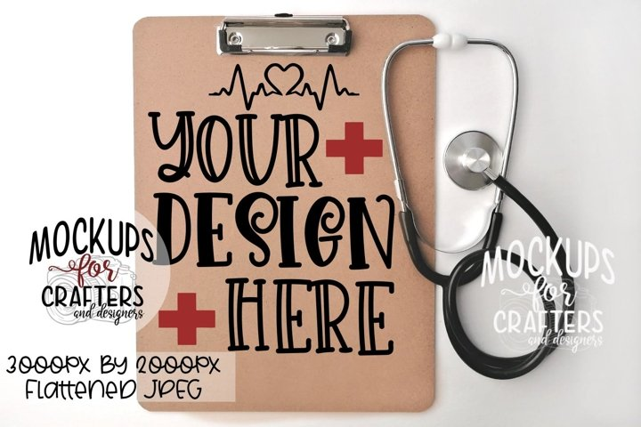 Clipboard Mock-Up, Medical, Nurse, Doctor, Essential