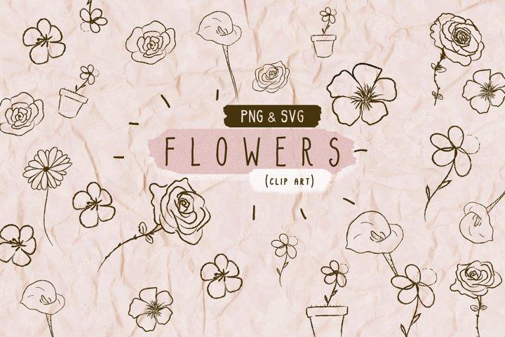 SVG PNG Flowers Bouquet High Quality Clip Art Illustrations