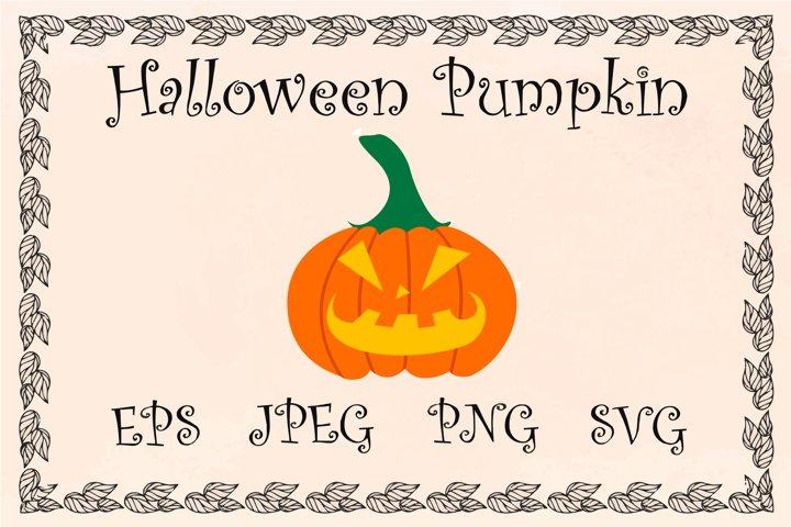 Pumpkin clipart, cartoon pumpkin, halloween design