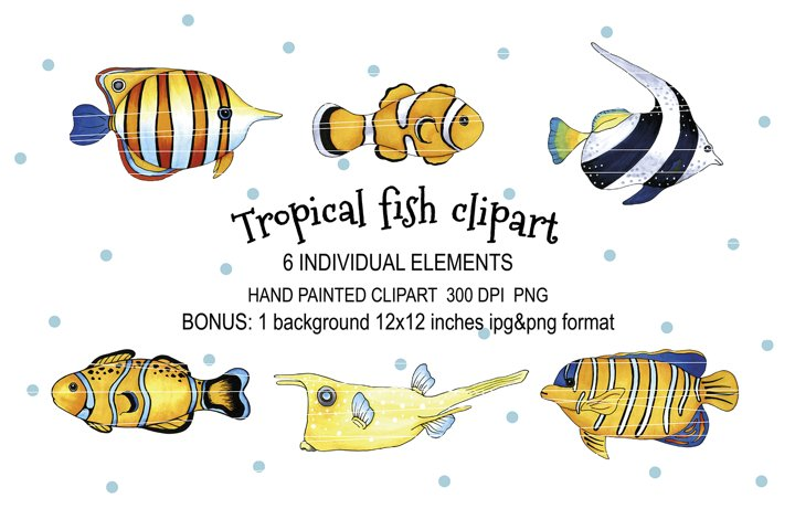 Tropical fish set