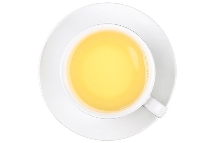 Cup Of Green Oolong Tea Isolated On White Backgound