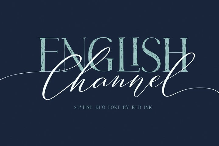 English Channel. Duo Font