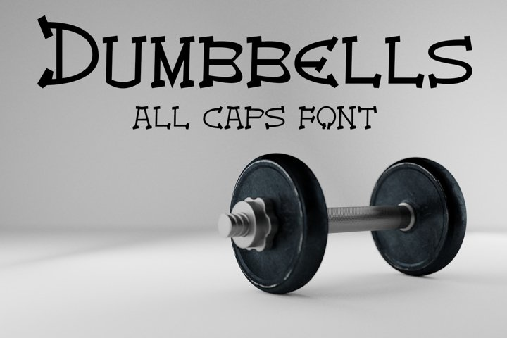 EP Dumbbells - All Caps Font