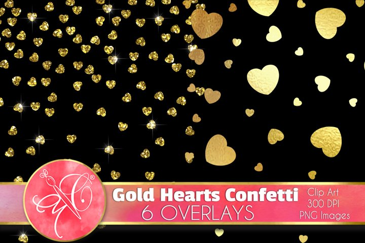 Hearts Confetti Clip Art /Scrapbook, Overlays, Element