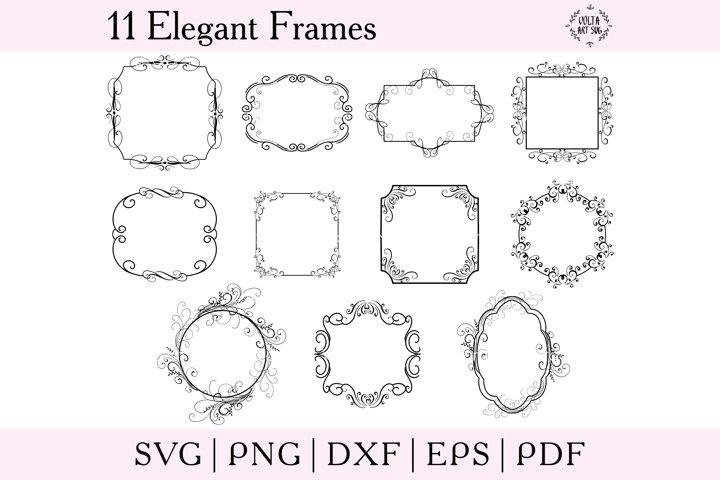 Elegant Frames SVG bundle, SVG Borders set, Geometric frames