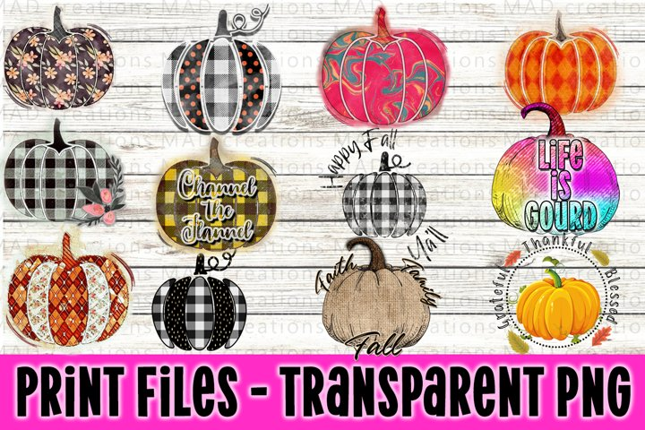 Pumpkin Bundle - Fall Bundle - Print Files Clipart