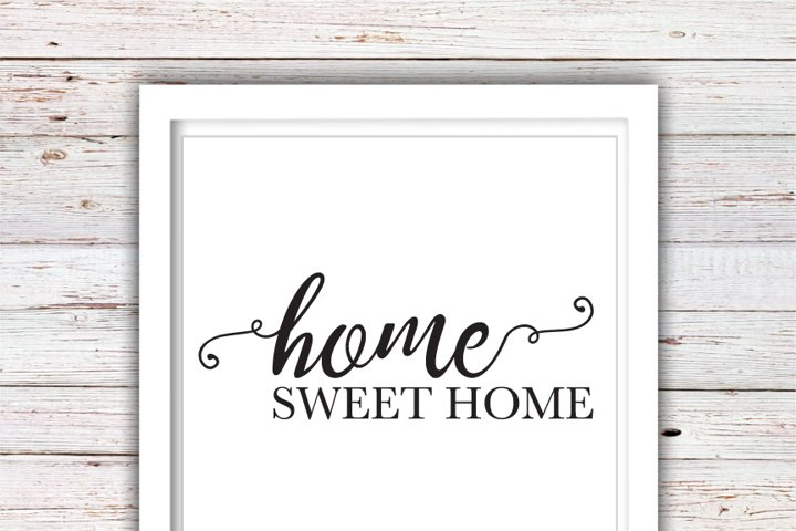 Home Sweet Home SVG | Farmhouse SVG | Farmhouse | High Quality Svg Eps Dxf Png Files | Cricut Files Silhouette Cameo | Instant Download