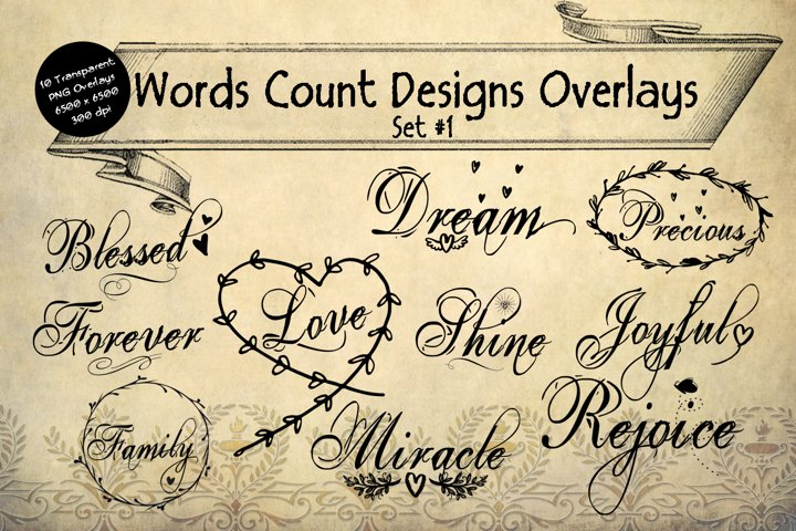 Words Count Designs Overlay Set #1