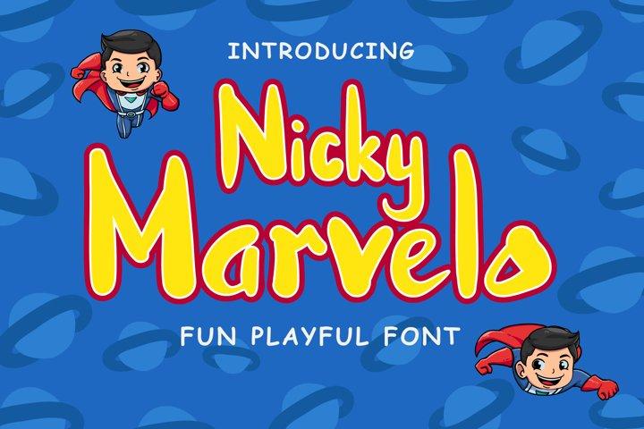 Nicky Marvelo - Fun Playful Font