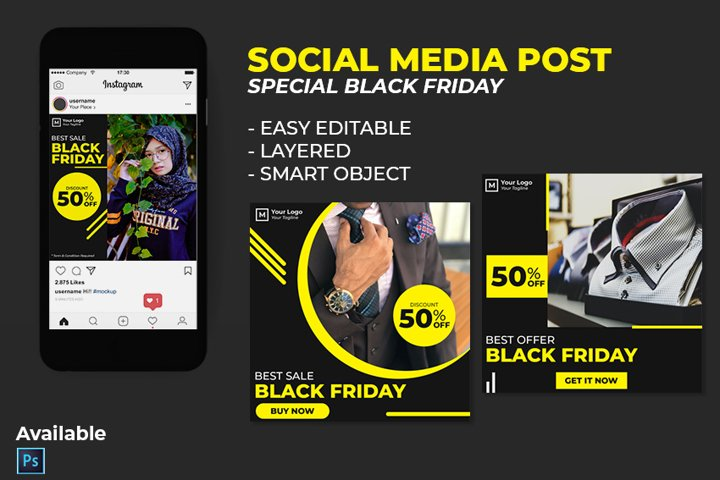 Instagram Post - Social Media Template Black Friday