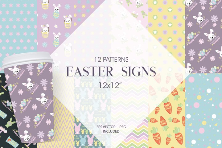 Easter Signs Graphic & Illustration
