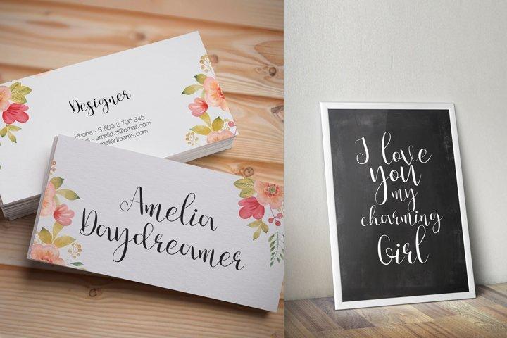 Julia's Dream - Free Font of The Week Design2
