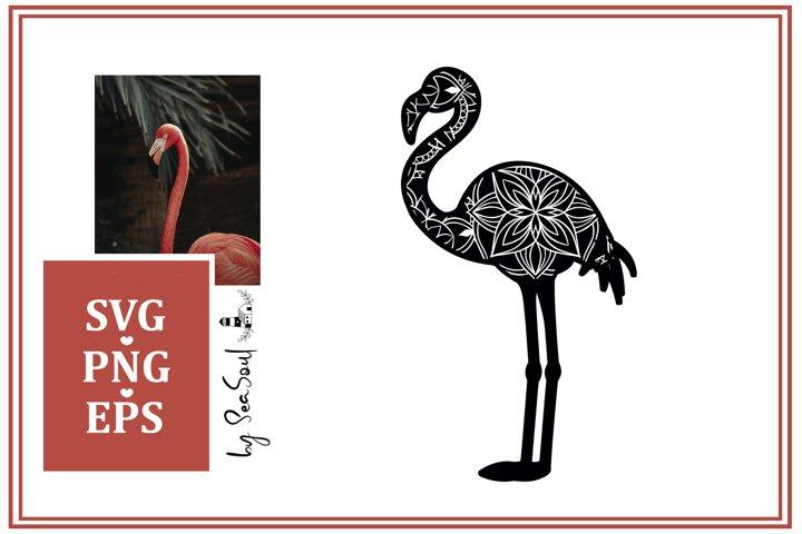 Flamingo Mandala Design SVG, PNG, EPS