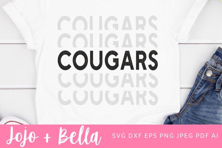 Football SVG - Cougars Svg