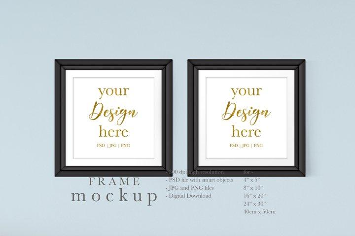 Black Frame Mockup - Frame Mockup for Wall Art