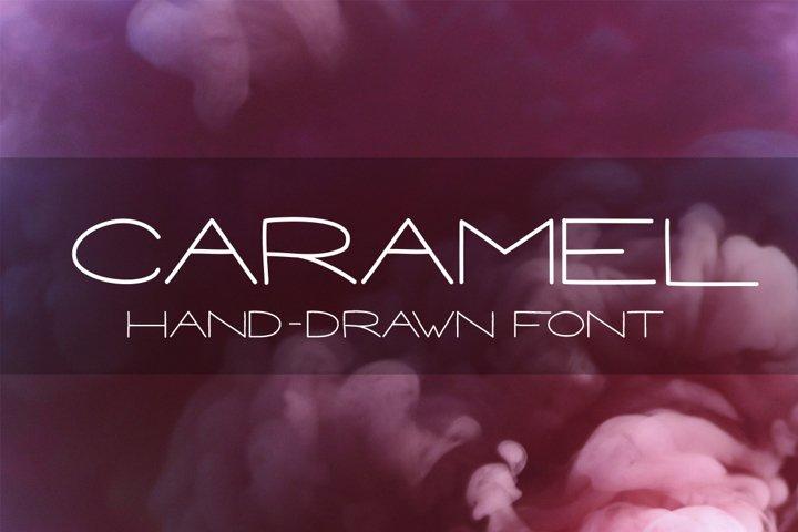CARAMEL - Hand drawn Sans Serif font