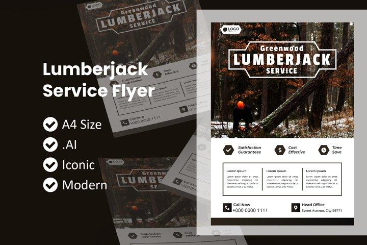 Lumberjack Service Flyer Template