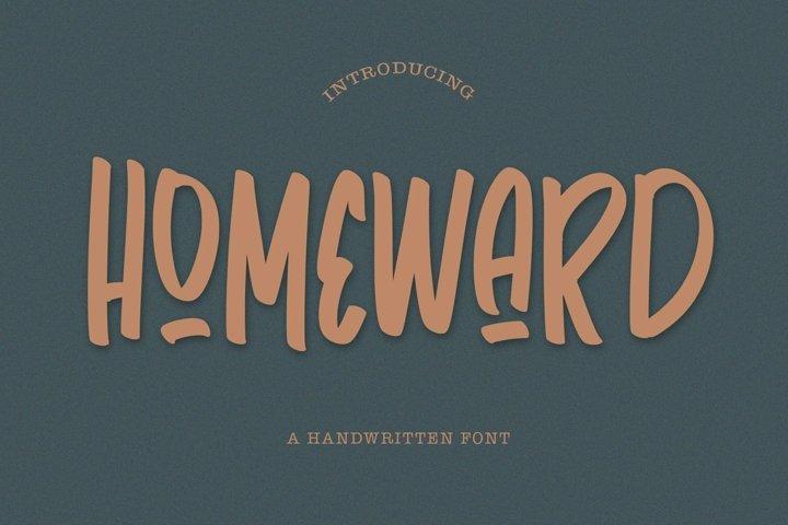 Web Font Homeward - Handwritten Font