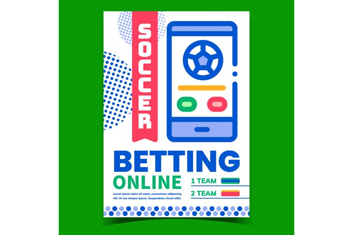 Soccer Online Betting Promotional Banner Vector