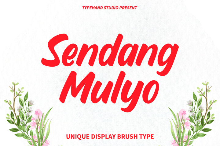 Sendang Mulyo - Brush Display Font