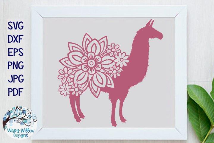 Floral Llama SVG| Llama with Flowers SVG Cut File