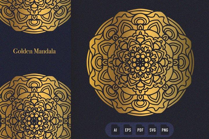 Golden Mandala Art 04