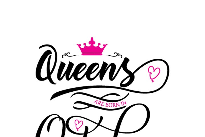 Queens are born in October Svg,Dxf,Png,Jpg,Eps vector file