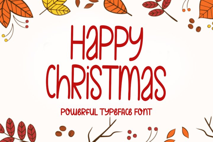 Happy Christmas - Typeface Font