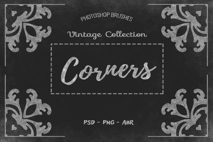 20 Corner Designs PSD - ABR - PNG example 1