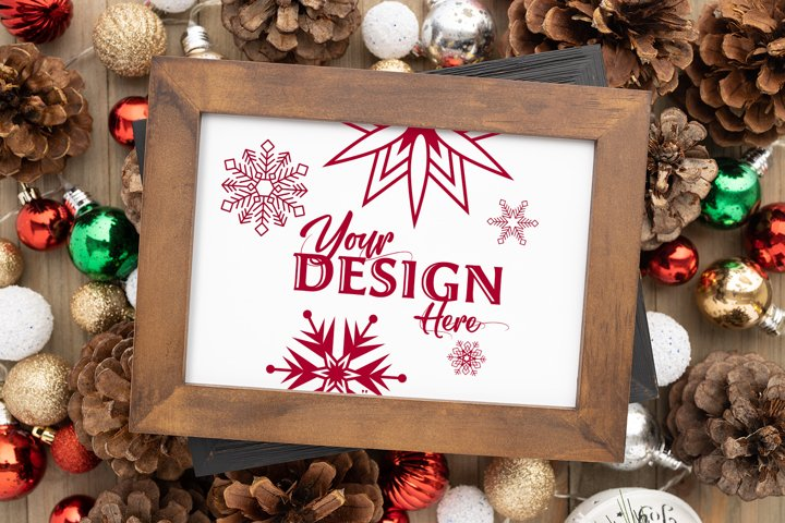 Holiday Double Frame PSD Mockup