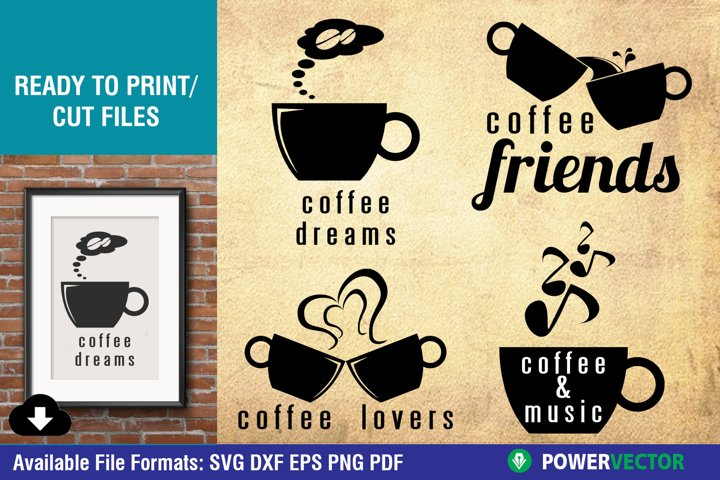 Coffee Quotes Svg Dxf Files for Crafters| Printable sayings