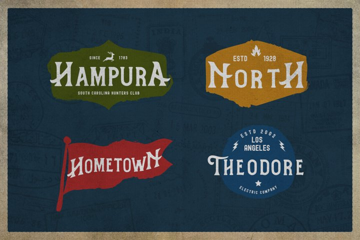 Hometown Vintage Typeface - Free Font of The Week Design2