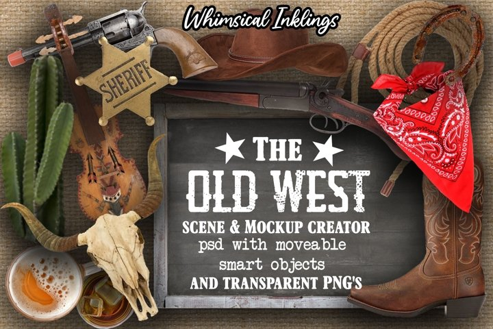 The Old West- Cowboy Scene and Mockup Creator