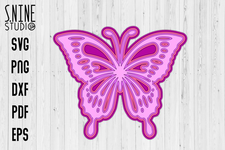 Butterfly 3D Cut Files SVG