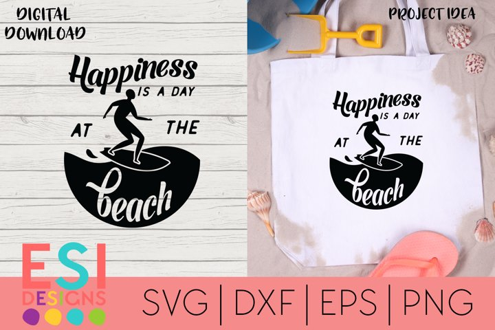 Summer | Happiness is a day at the Beach|Silhouette Cricut