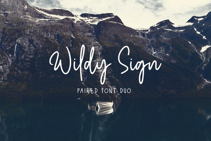 Wildy Sign - Paired Font Duo