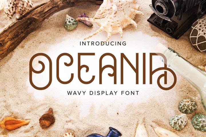 Oceania Display Font