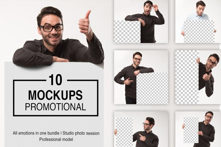 Mockups promotion photo bundle example